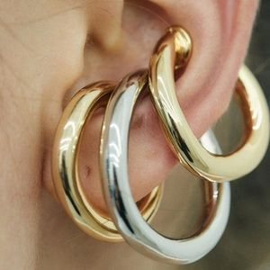 Gold Ear Cuffs Horseshoe Shape Earrings Jewerly